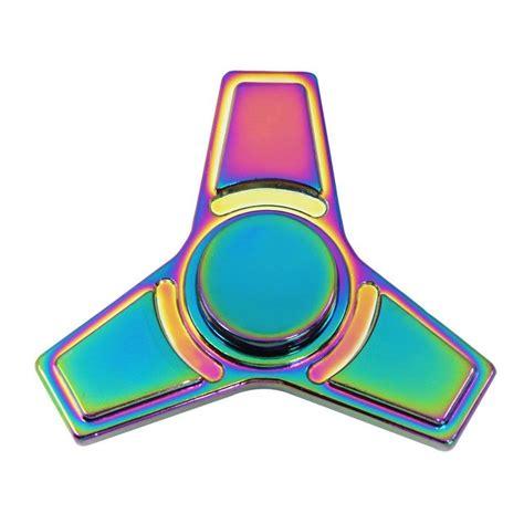 Tri Fidget Spinner Triangle Metal Finger Focus Genji Shuriken fidget spinner metal stainless steel dual tri