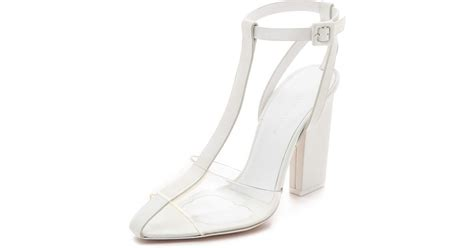 Wedges Jepit Permata Glows 3 lyst wang agata glow in the sandals in white