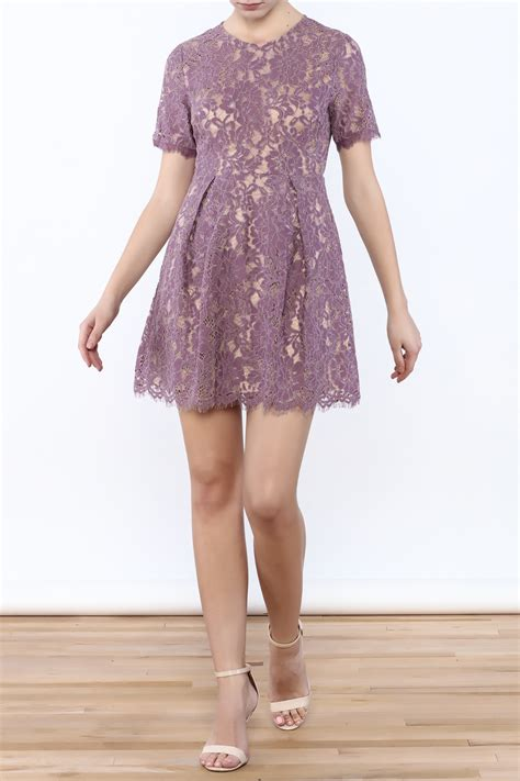 B L F Lace Dress lush lavender lace dress from florida by momni shoptiques