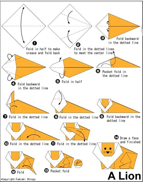 Simple Origami Directions - 30 beautiful exles of easy origami animals