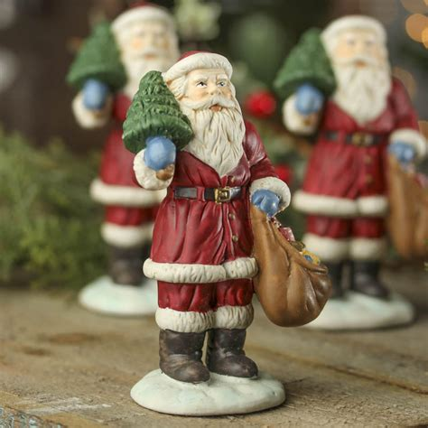 ceramic santa figurine christmas and holiday primitive