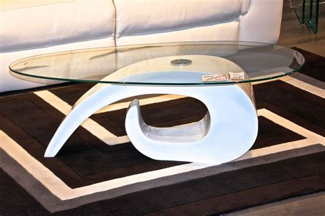 table basse pas cher table basse ovale blanche