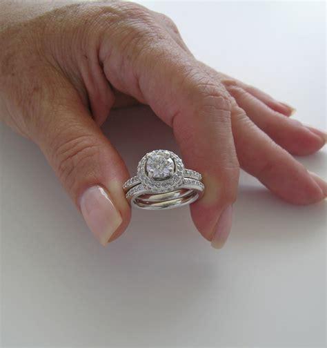 engagement bridal ring set charming halo design