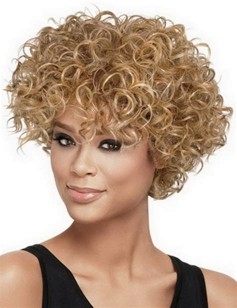 perms you can buy for african american teenagers fashion sexy heat resistant synthetic blonde afro hair