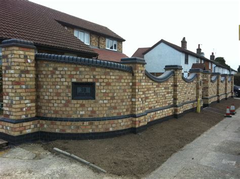 wall garden design new brick garden wall landscaping mr v stotfold