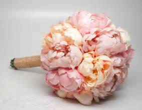 peonies bouquet wedding bouquet pink and peach peony bouquet rustic shabby