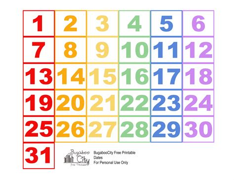 free printable preschool calendar numbers september