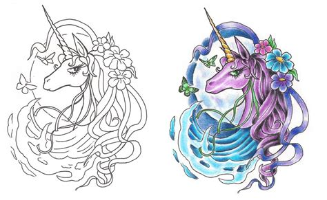 freebies last unicorn tattoo design by tattoosavage on