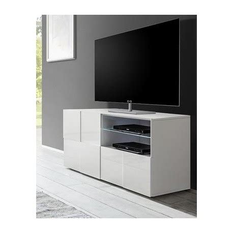 Tv Led Makassar diana 121cm white gloss tv unit with led lights tv stands home furniture
