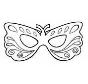 Molde Para Mascara De Carnaval 8