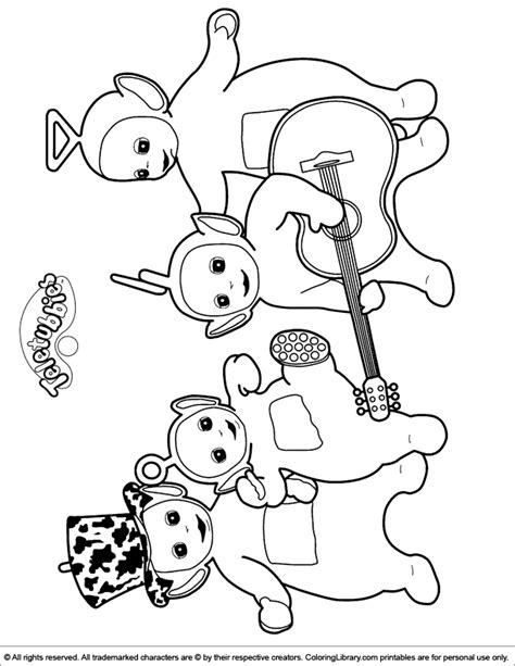 free teletubbies color coloring pages