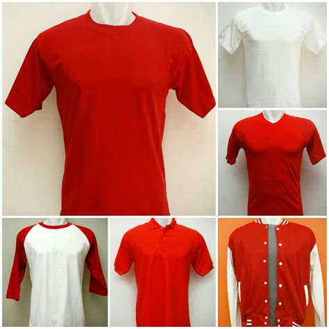 Kaos Polos Murah Logo Isrn Warna Putih Ukuran Xxxl koleksi kaos polos dan sweater polos merah putih untuk sablon kaos 17 agustusan grosir kaos