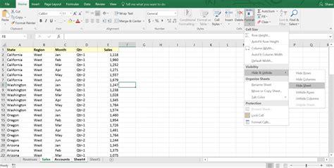 Excel Hide Worksheet