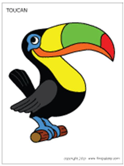 Christmas Tree Stencil - toucan printable templates amp coloring pages firstpalette com