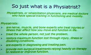 Physiatrist Description by Pin Patient History Form On