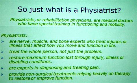what is in a top 10 reasons to see a physiatrist perry herman md