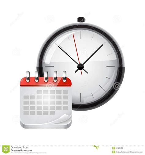 Calendar And Clock Vector Calendar With A Clock Royalty Free Stock Photos