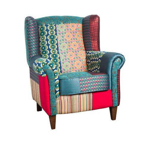 Patchwork Armchairs For Sale - buy desigual patchwork jacquard armchair green amara