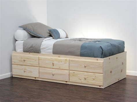 How To Make Drawers Bed by Cabinet Craft Storage Bed With 6 Drawers