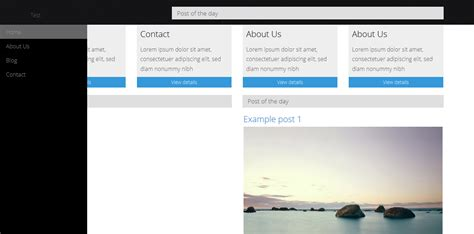 bootstrap tutorial left menu html bootstrap sidebar theme stack overflow