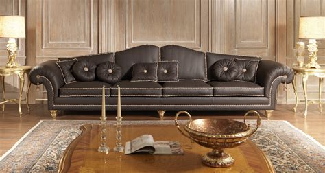 luxury sofas in leather classic style modern