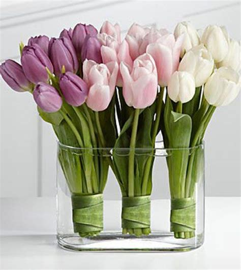 tulips arrangements artificial tulips flower arrangement pink white and purple