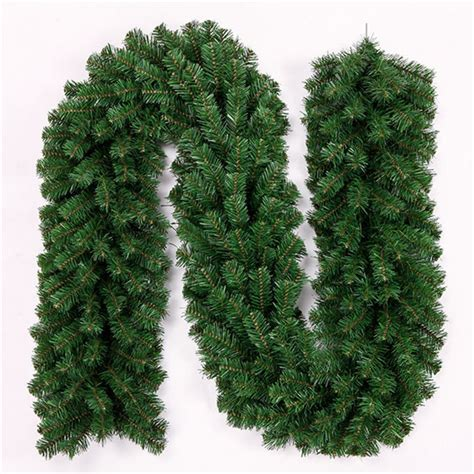 2 7m green cane christmas tree garland garden decorative