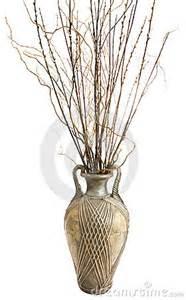 Large Vase With Sticks Large Antique Vase With Decorative Sticks Stock