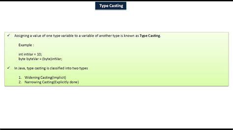 html tutorial variable java ee java tutorial java variable type casting