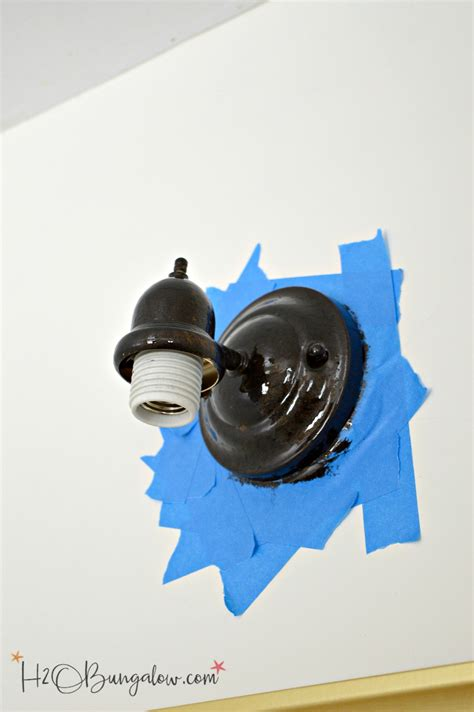 How To Paint A Metal Light Fixture How To Paint A Metal Light Fixture H20bungalow