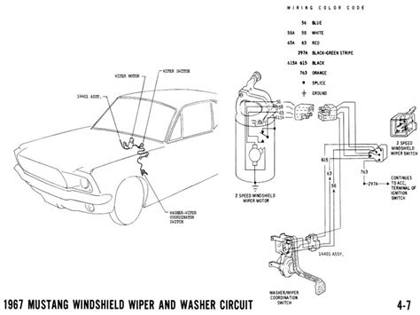1965 mustang wiper motor wiring diagram repalcement parts