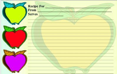 apple butter card template 17 best images about borders recipes cards 2 on
