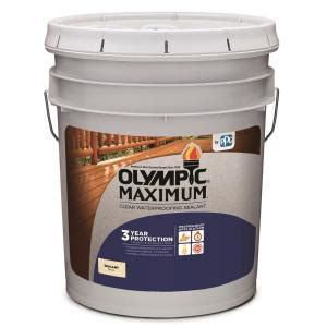 olympic maximum  gal clear exterior waterproofing