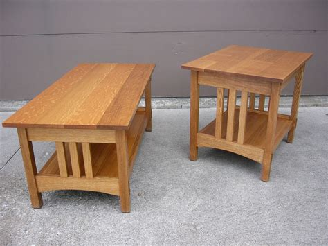 Oak Mission Coffee Table Quartersawn Oak Mission Style Coffee Table And End Table For The Home Pinterest
