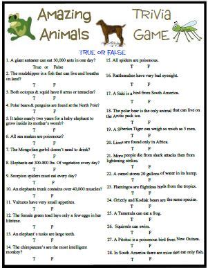 printable animal trivia printable bible trivia questions and answers memes