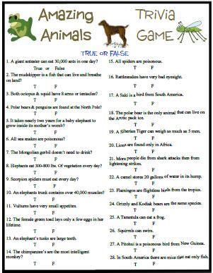 easy printable animal trivia printable bible trivia questions and answers memes