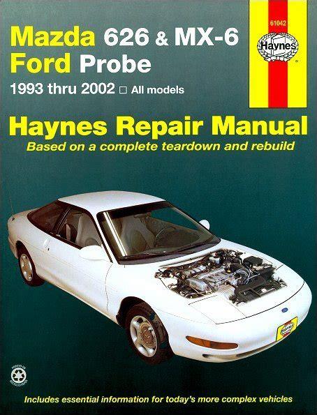 car repair manuals download 1993 mazda mx 6 transmission control mazda 626 mx 6 ford probe repair manual 1993 2002 haynes