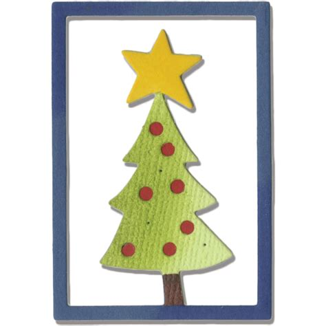 sizzix thinlits die christmas tree 2