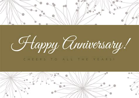 Work Anniversary Card Templates by 40 Anniversary Ideas For Canva
