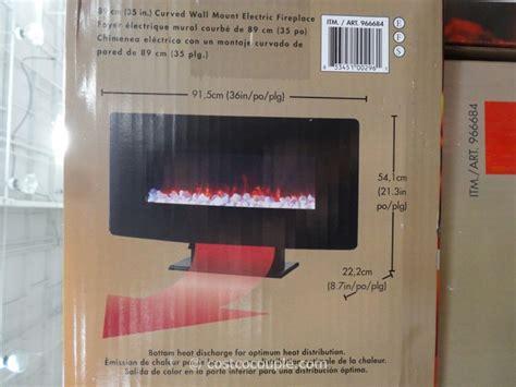 muskoka curved wall mount electric fireplace