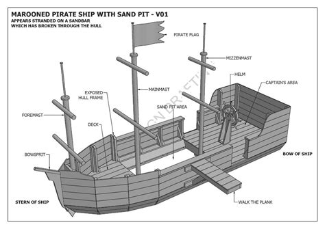 building a cubby house plans marooned pirate boat with sand pit cubby play house