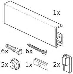 Ikea stas cliprail pro 150 cm monteringssats stas