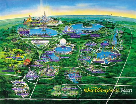 disney resort map theme park maps