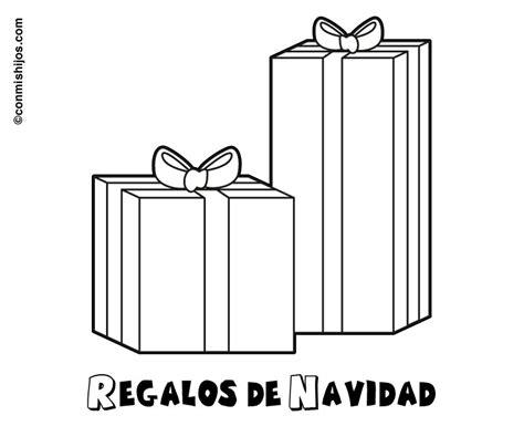 imagenes de navidad para colorear regalos imprimir dibujo infantil de regalos de navidad para