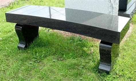 headstone bench granite cemetery benches headstones grave markers