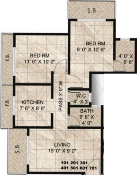 twin towers floor plans 948 sq ft 2 bhk 2t apartment for sale in panvelkar group