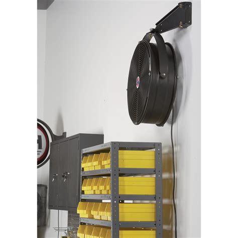 wall mount garage fan q standard garage fan 18in model 18923 wall mount