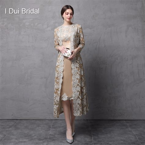 2 piece mother of the bride dresses knee length two piece mother of the bride dress with long lace jacket
