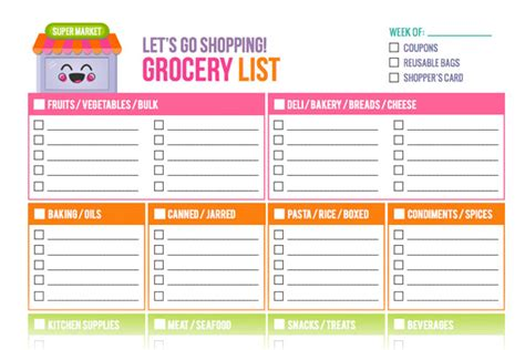 grocery store layout template free printable grocery list templates new shop addition