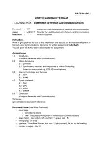 Essay Format Assignment by Written Assignment Exle